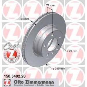 ZIMMERMANN 150.3402.20 Диск гальмівний