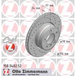 ZIMMERMANN 150.3402.52 Диск гальмівний