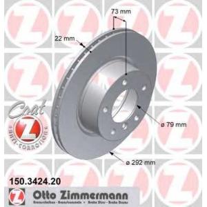 ZIMMERMANN 150.3424.20 Диск гальмівний