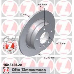 ZIMMERMANN 150.3425.20 Brake disk, rear L/R BMW 1 (E81), 1 (E87) 1.6/2.0/2.0D 11.03-09.12