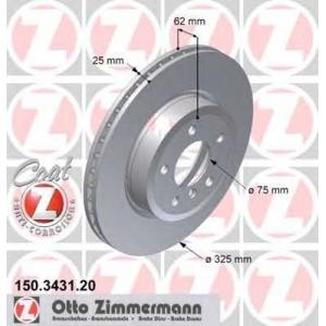 ZIMMERMANN 150343120 передний BMW X3(E83) 1.8d-3.0i (325x25)