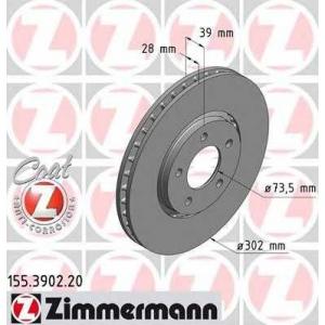 ZIMMERMANN 155390220 Гальмiвнi диски