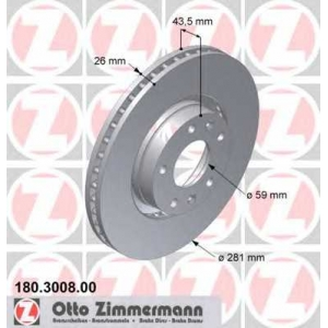 ZIMMERMANN 180300800 Гальмiвнi диски