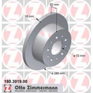 ZIMMERMANN 180301900 Гальмiвнi диски