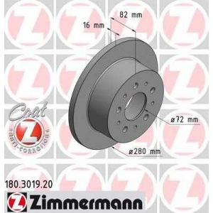 ZIMMERMANN 180301920 Гальмiвнi диски
