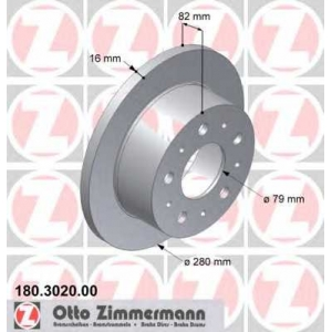 ZIMMERMANN 180302000 Гальмiвнi диски