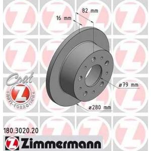 ZIMMERMANN 180302020 Гальмiвнi диски