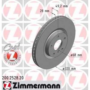 ZIMMERMANN 200.2528.20 Диск гальмівний