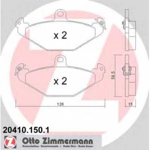 ZIMMERMANN 20410.150.1 Комплект тормозных колодок, дисковый тормоз Крайслер Випер