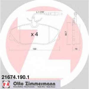 ZIMMERMANN 216741901 Гальмiвнi колодки дисковi
