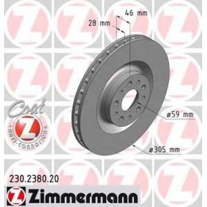 ZIMMERMANN 230.2380.20 Диск гальмівний