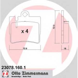 ZIMMERMANN 230781601 Запчасть