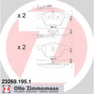 ZIMMERMANN 23269.195.1 Комплект тормозных колодок, дисковый тормоз Фиат Премио