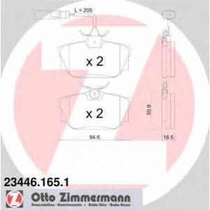 ZIMMERMANN 23446.165.1 Комплект тормозных колодок, дисковый тормоз Фиат Премио
