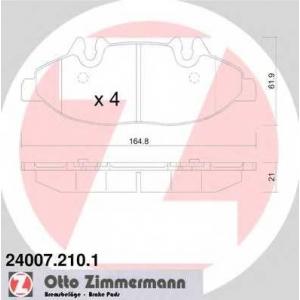 240072101 ottozimmermann Комплект тормозных колодок, дисковый тормоз MERCEDES-BENZ VIANO вэн CDI 3.0