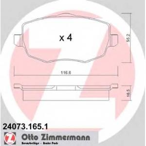 ZIMMERMANN 240731651 Комплект тормозных колодок, дисковый тормоз