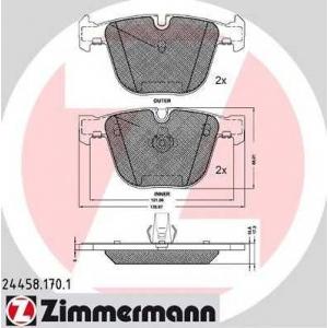 ZIMMERMANN 24458.170.1 Колодки гальмівні дискові