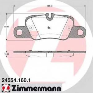 ZIMMERMANN 245541601 задние Porsche Panamera