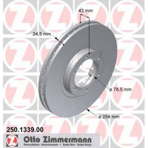 ZIMMERMANN 250133900 Гальмiвнi диски