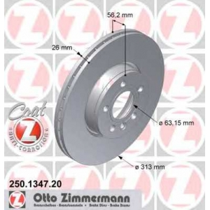 ZIMMERMANN 250.1347.20 L/R FORD GALAXY; SEAT ALHAMBRA; VW SHARAN, TRANSPORTER IV 1.8-2.8 07.90-03.10