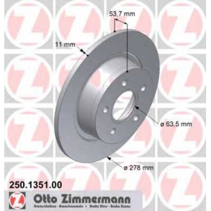 ZIMMERMANN 250.1351.00 L/R FORD TOURNEO CONNECT, TRANSIT CONNECT 1.8/1.8D 06.02-12.13