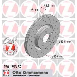 ZIMMERMANN 250.1353.52 Диск гальмівний