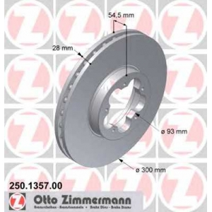 ZIMMERMANN 250135700 Гальмiвнi диски