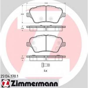 ZIMMERMANN 251341701 передние Ford B-Max, Fiesta 2013-