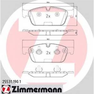 ZIMMERMANN 255311901 Гальмiвнi колодки дисковi