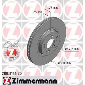 ZIMMERMANN 280.3166.20 Диск гальмівний