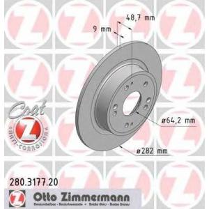 280317720 ottozimmermann Тормозной диск HONDA ACCORD седан 2.0 i