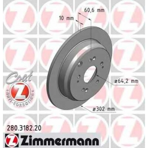 ZIMMERMANN 280.3182.20 Диск гальмівний