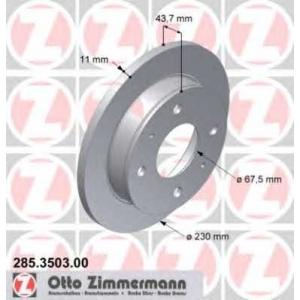 ZIMMERMANN 285350300 Гальмiвнi диски