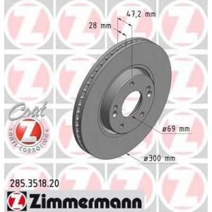 ZIMMERMANN 285.3518.20 Диск гальмівний