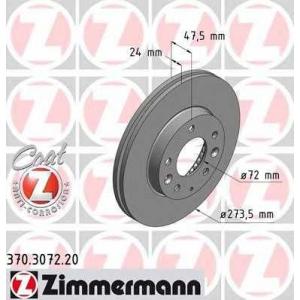 ZIMMERMANN 370.3072.20 Диск гальмівний