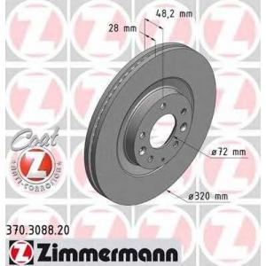 ZIMMERMANN 370.3088.20 Диск гальмівний