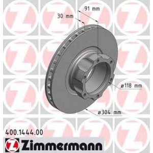 ZIMMERMANN 400144400 Тормозной диск