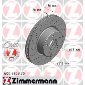 ZIMMERMANN 400.3607.20 Диск гальмівний
