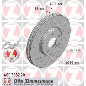 ZIMMERMANN 400363220 Гальмiвнi диски