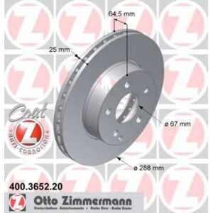ZIMMERMANN 400365220 Гальмiвнi диски