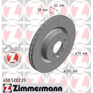 ZIMMERMANN 450.5202.20 Диск гальмівний