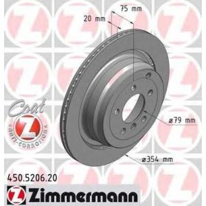 ZIMMERMANN 450520620 задний вент. Range Rover III , Range Rover Sport (354x20)