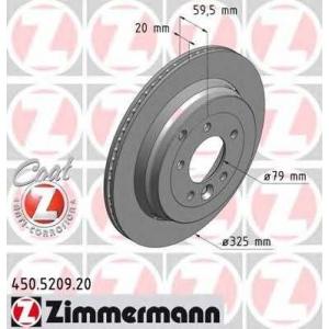ZIMMERMANN 450.5209.20 Диск гальмівний