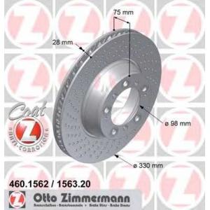 ZIMMERMANN 460156220 Тормозной диск