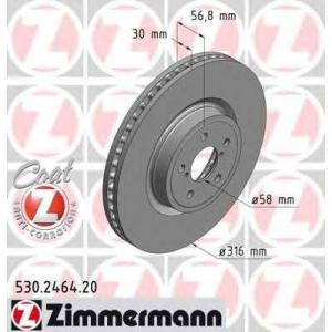 ZIMMERMANN 530.2464.20 Диск гальмівний