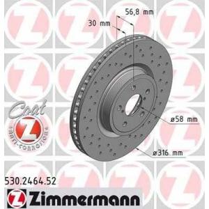 ZIMMERMANN 530.2464.52 Диск гальмівний