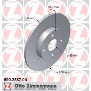 ZIMMERMANN 590.2587.00 Тормозной диск