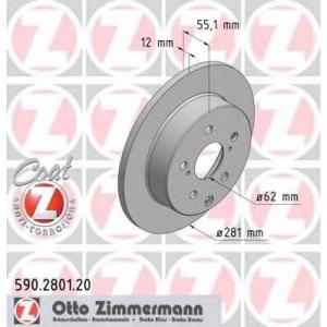ZIMMERMANN 590280120 задний Toyota Rav4 06- (281x12)