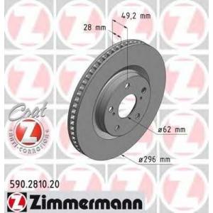 ZIMMERMANN 590.2810.20 Диск гальмівний