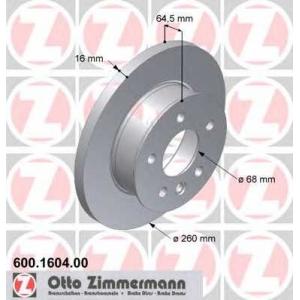 ZIMMERMANN 600.1604.00 Тормозной диск